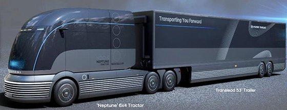 現代車が開発中の燃料電池トラック専用プラットホーム「ネプチューン」 [写真 現代車]