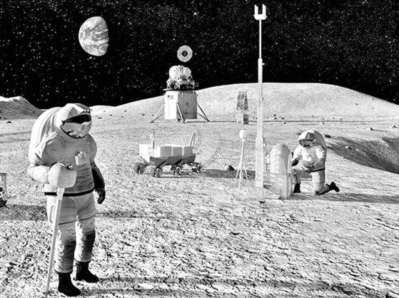 米国は2024年宇宙飛行士2人を皮切りに毎年有人月面探査を行うという「アルテミス計画」を昨年5月に発表した。写真は米航空宇宙局(NASA)が提示した月面探査のイメージ。[写真 NASA]