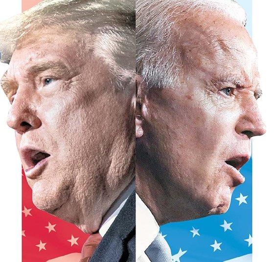 トランプ米大統領(左)とバイデン民主党大統領候補は22日、2度目のテレビ討論で対中国・北朝鮮政策について反対の立場を見せた。 [中央日報]