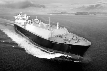 サムスン重工業が建造したLNG運搬船。[写真 サムスン重工業]