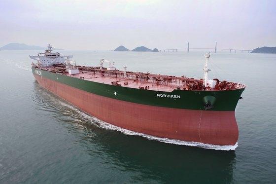 サムスン重工業が建造した原油運搬船。[写真 サムスン重工業]