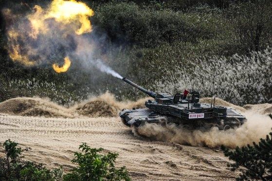 陸軍第7軍団のK2「黒豹」戦車。[写真=陸軍]