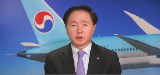 大韓航空の禹基洪社長が2日のオンライン記者懇談会で発言している。この日禹社長は大韓航空のアシアナ航空買収後に人為的構造調整はないという点を改めて強調した。[写真 大韓航空]