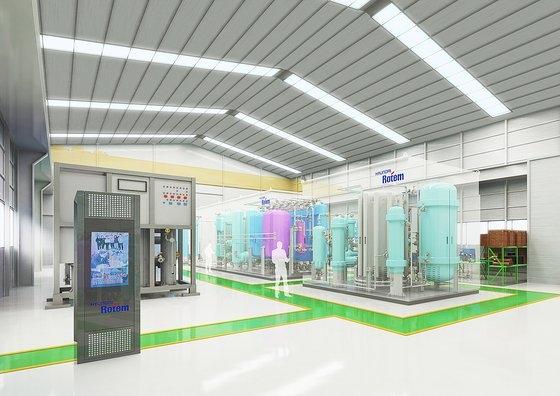 京畿道義王の現代ロテム水素抽出機工場内部予想図。[写真 現代ロテム]
