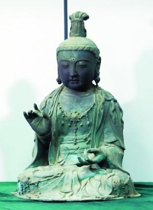 金銅観音菩薩坐