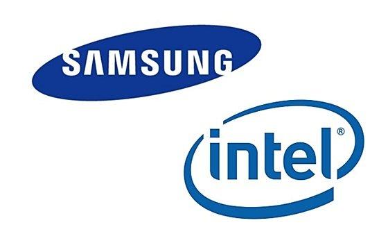サムスン電子とインテルのロゴ[中央フォト]