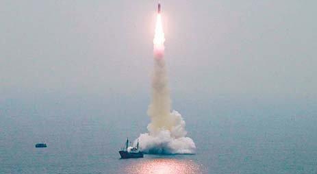 2019年10月2日のSLBM「北極星3」発射