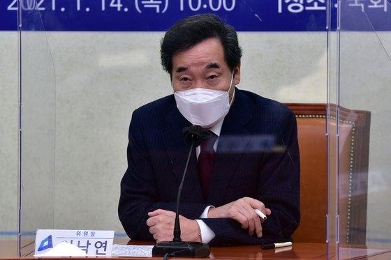 韓国与党「共に民主党」の李洛淵(イ・ナギョン)代表。オ・ジョンテク記者