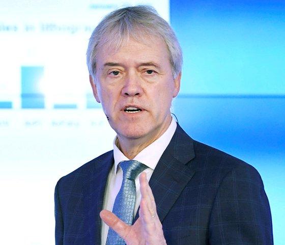オランダのASML社のPeter Wennink最高経営責任者(CEO)。