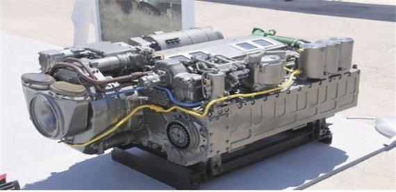 K-9自走砲エンジン・エンジン制御部品。[写真 韓国産業通商資源部]