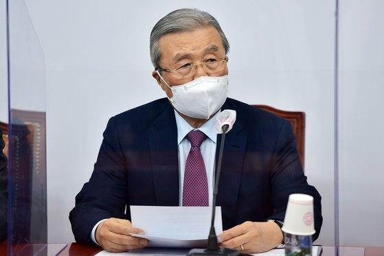国民の力の金鍾仁(キム・ジョンイン)非常対策委員長。 オ・ジョンテク記者