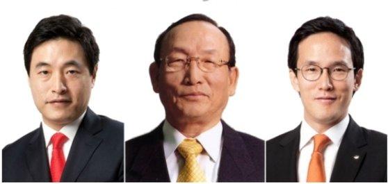 左から趙顕植韓国アンドカンパニー代表理事副会長、趙洋来会長、趙顕範社長[写真 韓国アンドカンパニー]