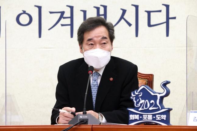 韓国与党「共に民主党」李洛淵(イ・ナギョン)代表。中央フォト