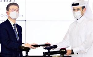 サムスン物産のオ・セチョル社長とカタール国営石油会社のアル・カービ会長