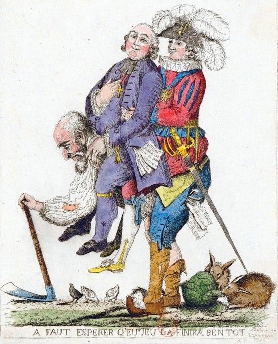 フランス社会階層を風刺した絵