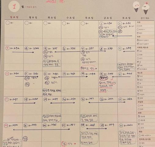 女優チェ・ジウの育児日記[写真 チェ・ジウのSNS]