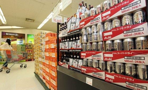 日本産輸入ビール。カン・ジョンヒョン記者