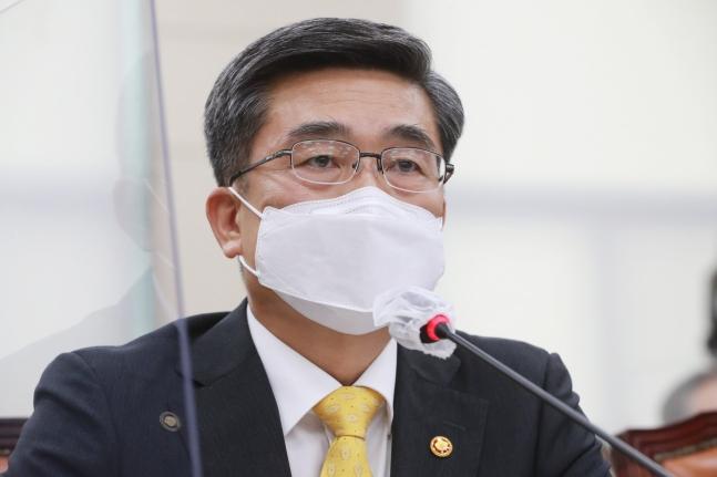 徐旭(ソ・ウク)国防部長官。 オ・ジョンテク記者