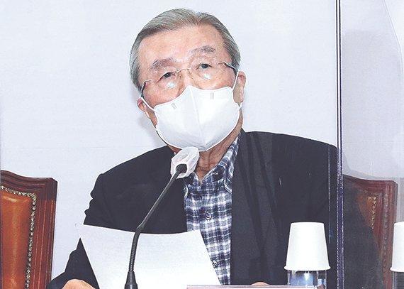 金鍾仁(キム・ジョンイン)「国民の力」前非常対策委員長。オ・ジョンテク記者