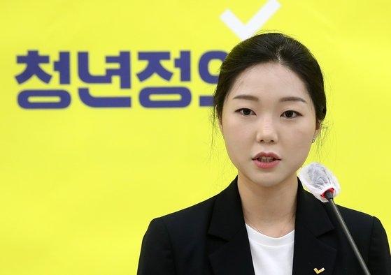 韓国野党「青年正義党」のカン・ミンジン代表。オ・ジョンテク記者