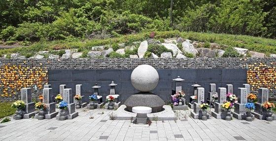 慰安婦被害者の遺骨箱が安置された京畿道広州市退村面(キョンギド・クァンジュシ・テチョンミョン)にある「ナヌムの家」追慕公園。ウ・サンジョ記者