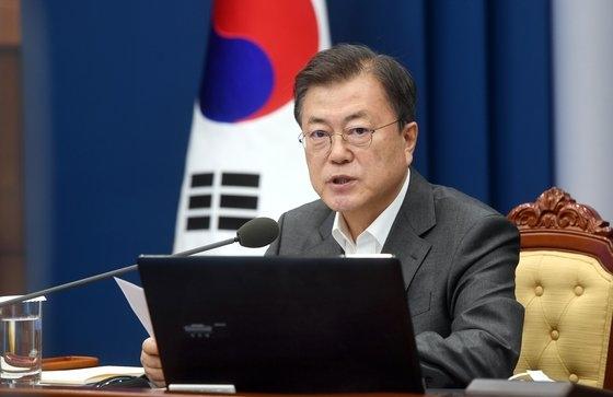 韓国の文在寅(ムン・ジェイン)大統領。 [青瓦台写真記者団]