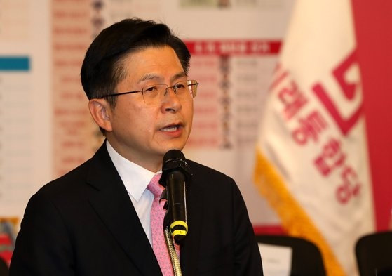 黄教安元未来統合党代表。オ・ジョンテク記者