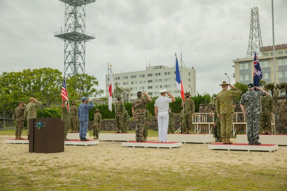 11日、自衛隊相浦駐屯地では、日本、米国、フランス、オーストラリアの参加兵力が共同訓練を開始する行事が開かれた。米国防総省