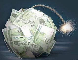 韓国の家計負債1765兆ウォン…金利上がれば経済の雷管に