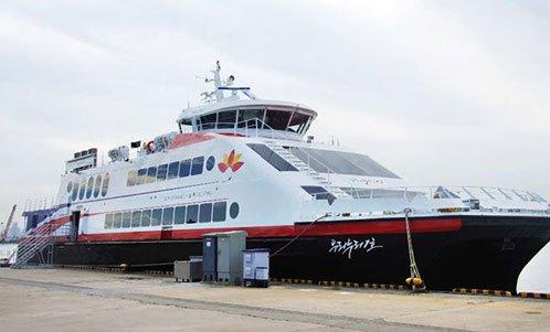浦項-鬱陵間を往復する旅客船「ウリヌリ号」 [写真=テソン海運]