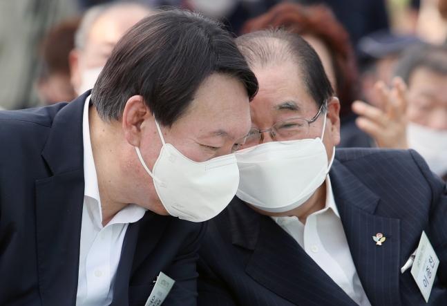 尹錫悦(ユン・ソクヨル)前検察総長 ウ・サンジョ記者