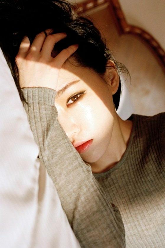 ガールズグループのBrown Eyed Girlsのメンバー、ガイン[写真 韓国ニッカンスポーツ]