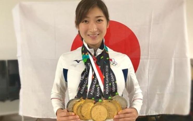 日本女子競泳の池江璃花子選手。2018年のアジア競技大会で6冠に輝いた。[写真 池江璃花子SNS]
