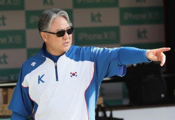 韓国野球代表チームの金卿文監督[写真 韓国ニッカンスポーツ]