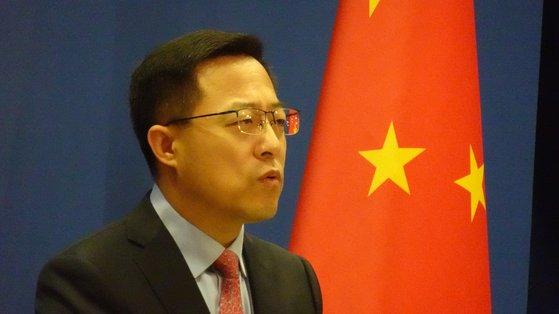 中国外務省の趙立堅報道官 写真=シン・ギョンジン記者