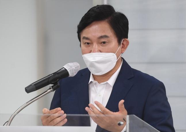 韓国野党「国民の力」大統領選候補者の元喜龍(ウォン・ヒリョン)氏。中央フォト