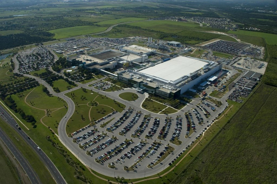 米テキサス州オースティンにあるサムスン電子オースティン半導体工場。[写真 サムスン電子]