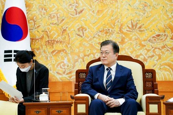 韓国の文在寅大統領。キム・ソンリョン記者