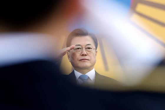 韓国の文在寅(ムン・ジェイン)大統領。[写真 青瓦台写真記者団]