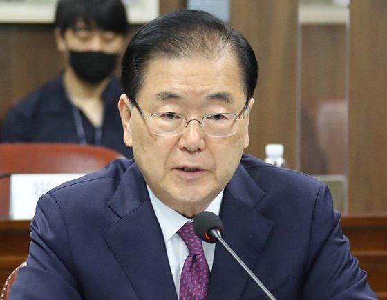 韓国外交部の鄭義溶(チョン・ウィヨン)長官。
