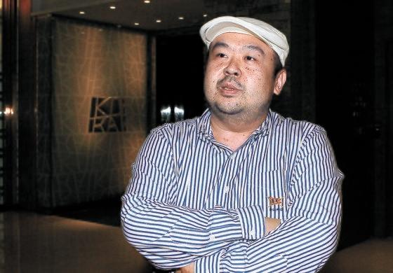 2010年6月4日、中央日報の単独インタビューに応じた金正男(キム・ジョンナム)氏 中央フォト